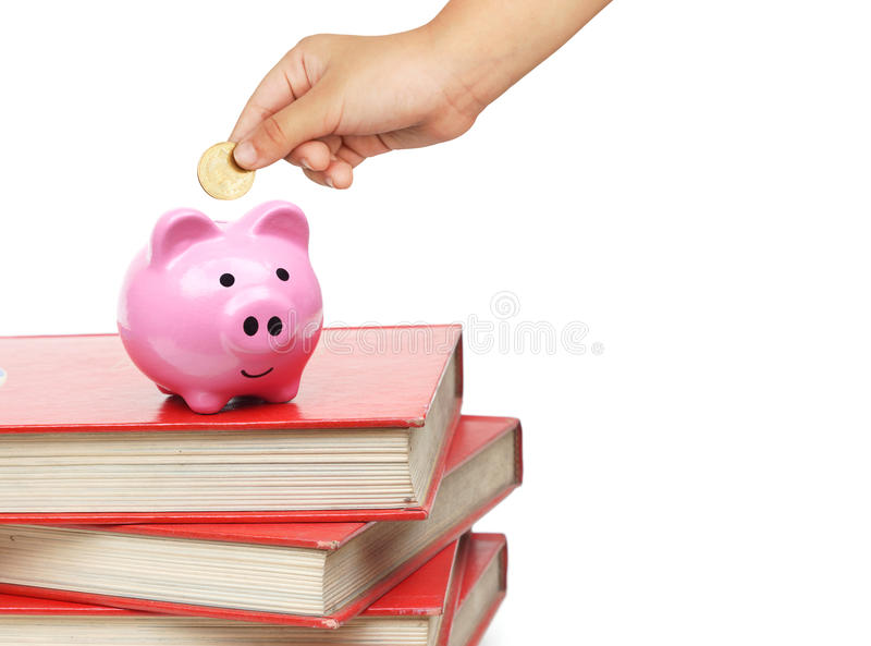 Saving money for education stock image