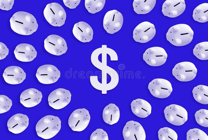 Saving money or financial investment concepts with piggy bank and dollar icon sign.business economic. Ideas stock image