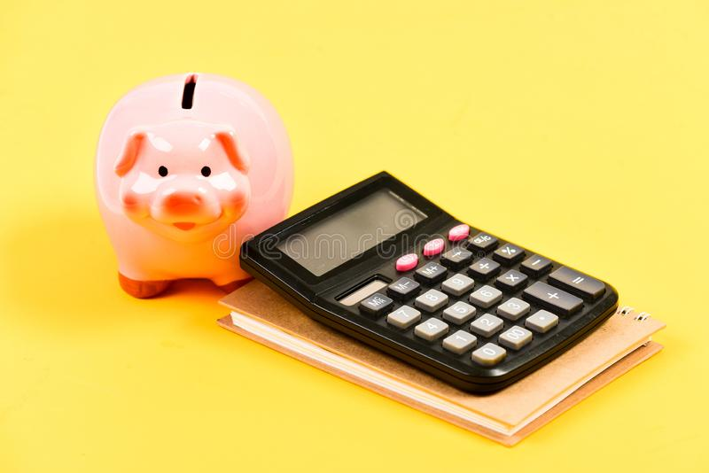 Saving money. First salary. business start up. Working with numbers. bookkeeping. financial report. family budget royalty free stock photography