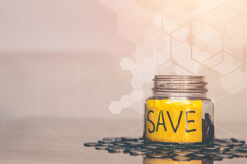 Saving money for future use. Saving money for future use, sustainability concept stock photography