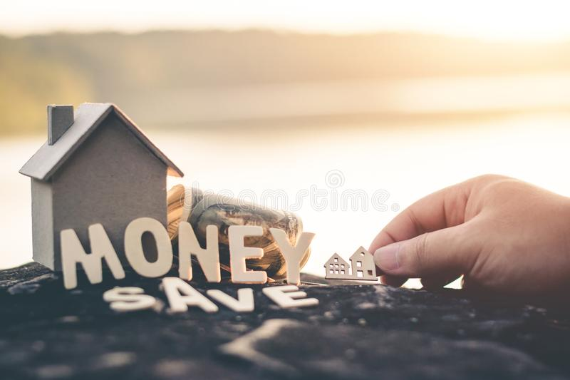 Saving money for future use. Saving money for future use, sustainability concept royalty free stock photos