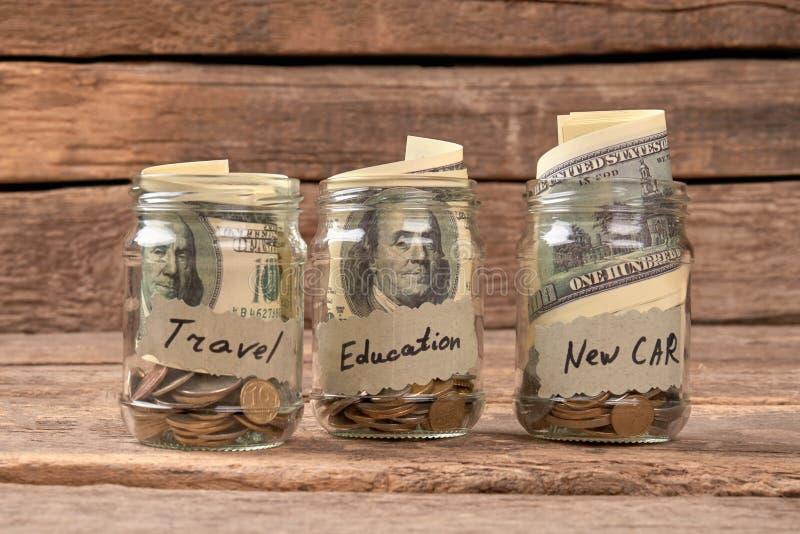 Saving Money Through Jar Money System Stock Photo Image Of Education Idea 118616614