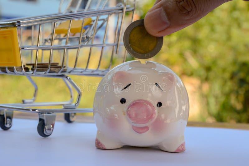 Saving money , save money saving concept. Banking for money saving royalty free stock photography