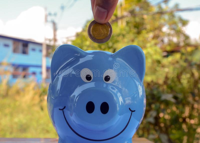 Saving money , save money saving concept. Banking for money saving royalty free stock images