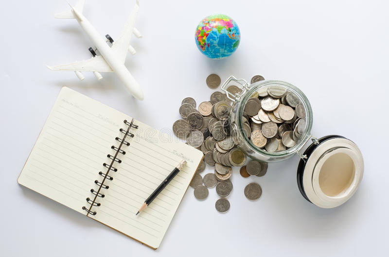 Saving money for tourism is important. stock images