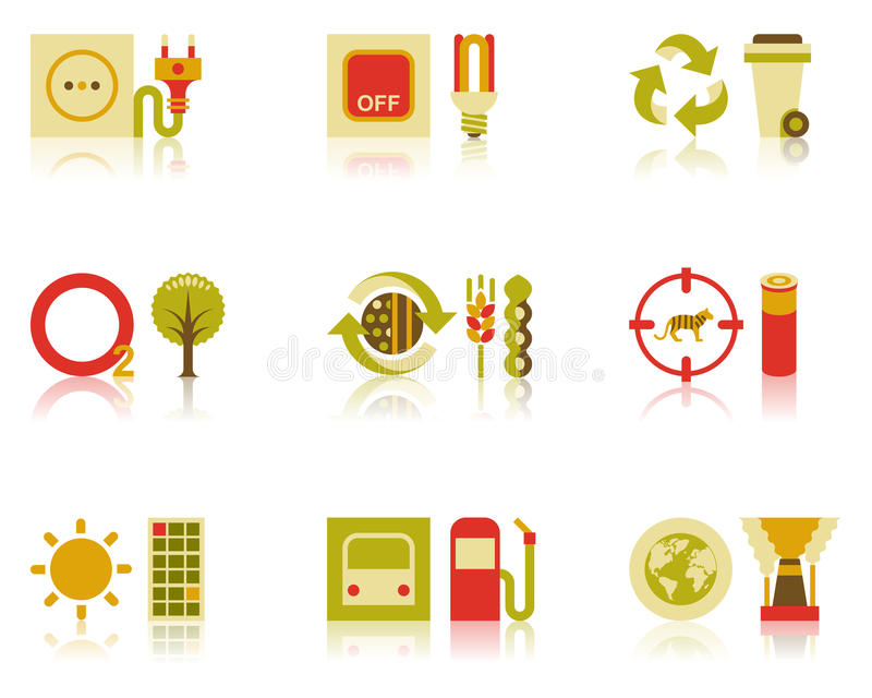 Saving Natural Resources Icon Set