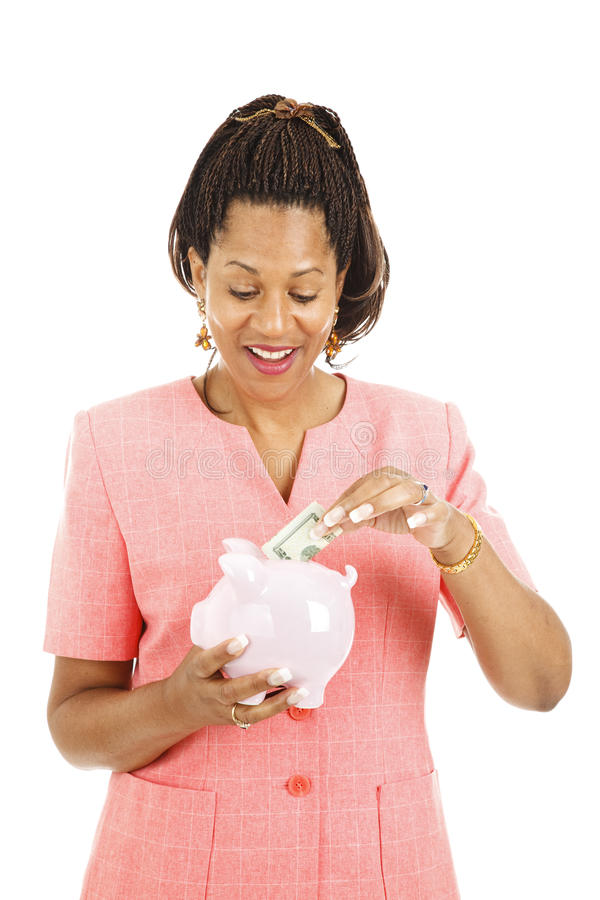 Download Saving in Piggy Bank stock photo. Image of african, ethnicity - 18261420