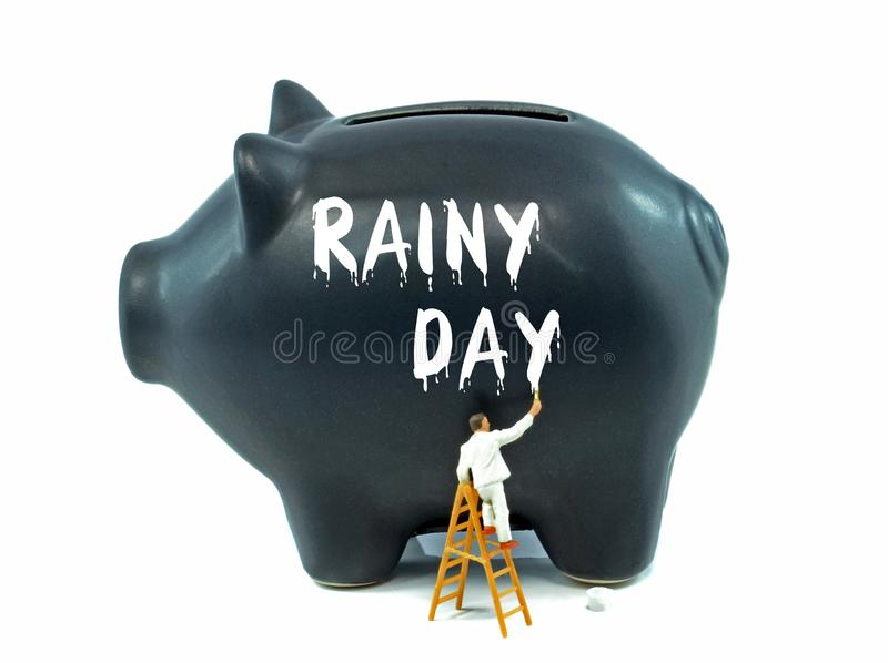Saving for a Rainy Day stock photos