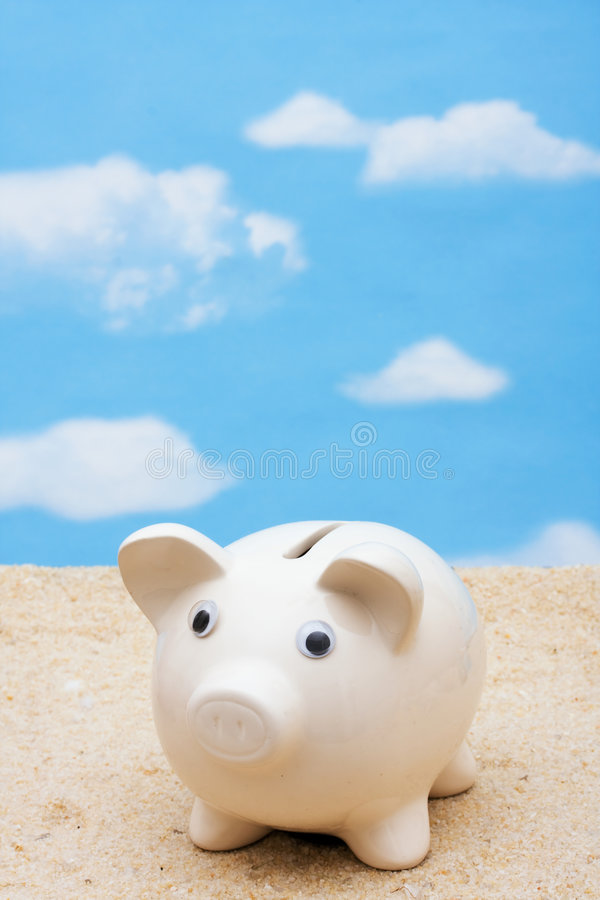 Saving For Vacation Stock Photography