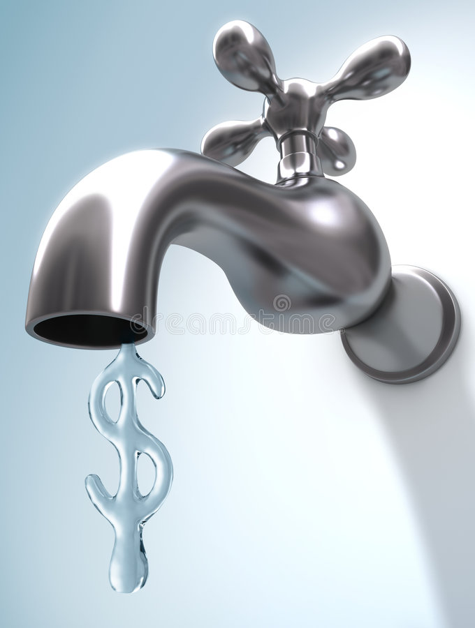 Saving Water vector illustration