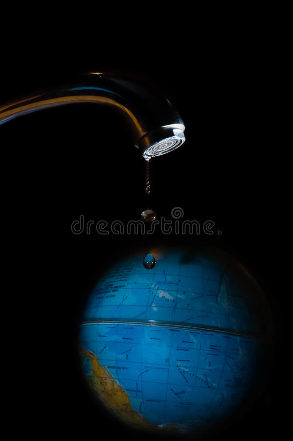 Saving water and world environmental protection concept. royalty free stock images
