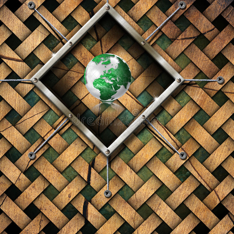 Download Saving World Frame - Ecology Concept Stock Illustration - Image: 26547603