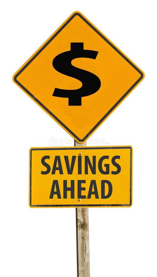 Download Savings Ahead Sign Stock Photo - Image: 22825300