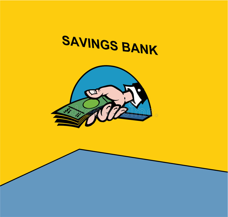 Savings bank stock illustration