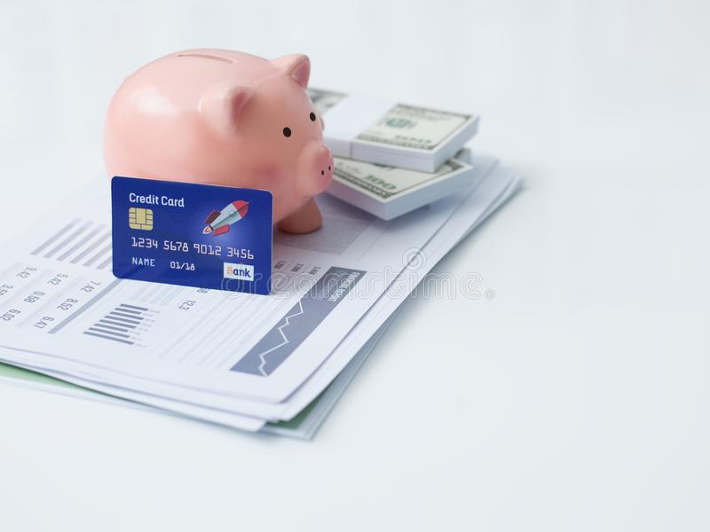 Savings, banking and investments stock image
