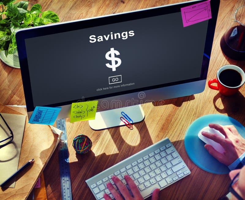 Savings bankowości wartości pieniądze budżeta gospodarki pojęcie obraz royalty free