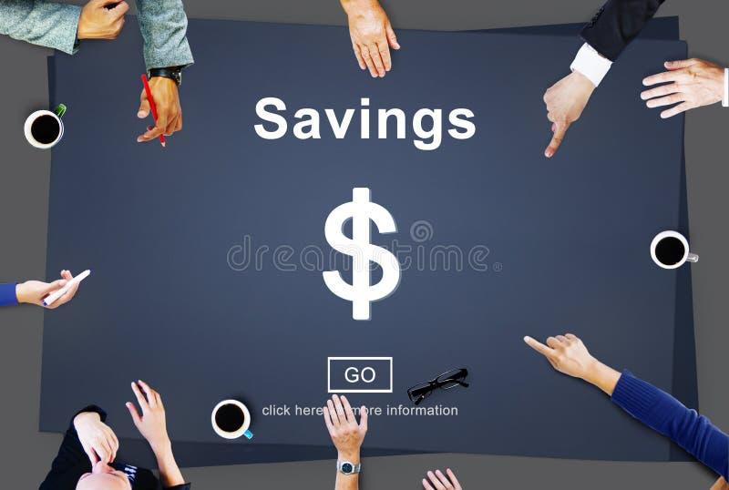 Savings bankowości wartości pieniądze budżeta gospodarki pojęcie obraz stock