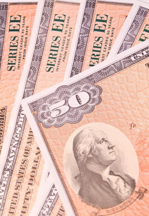 Savings Bonds royalty free stock images