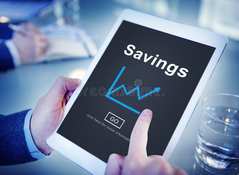 Savings budżeta wartości dochodu pieniądze Finansowy pojęcie obraz stock