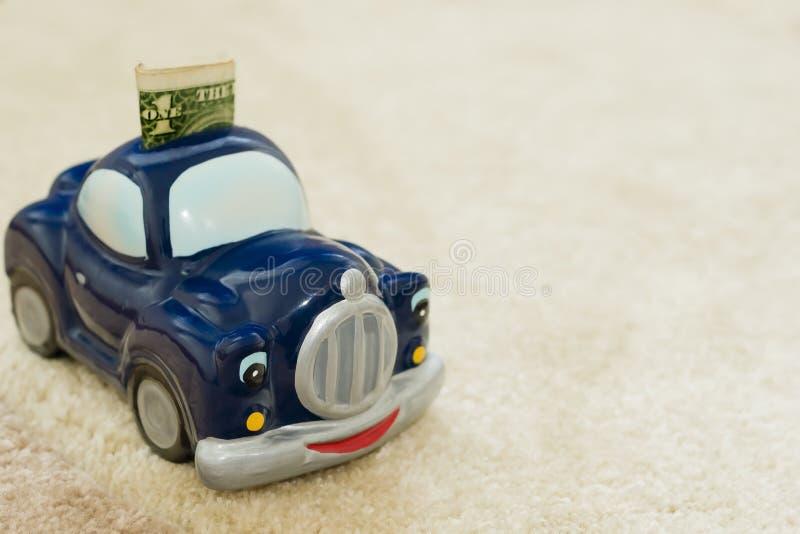 Savings for a car. Money box, savings for a car stock photography