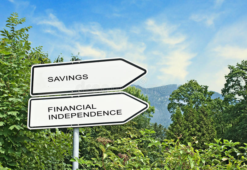 savings and financial independence royalty free stock photos