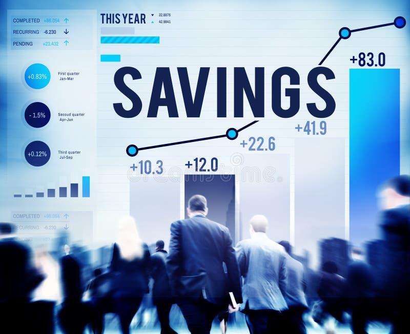 Savings Finansują dochodu zysku pieniądze Ekonomicznego pojęcie zdjęcia stock