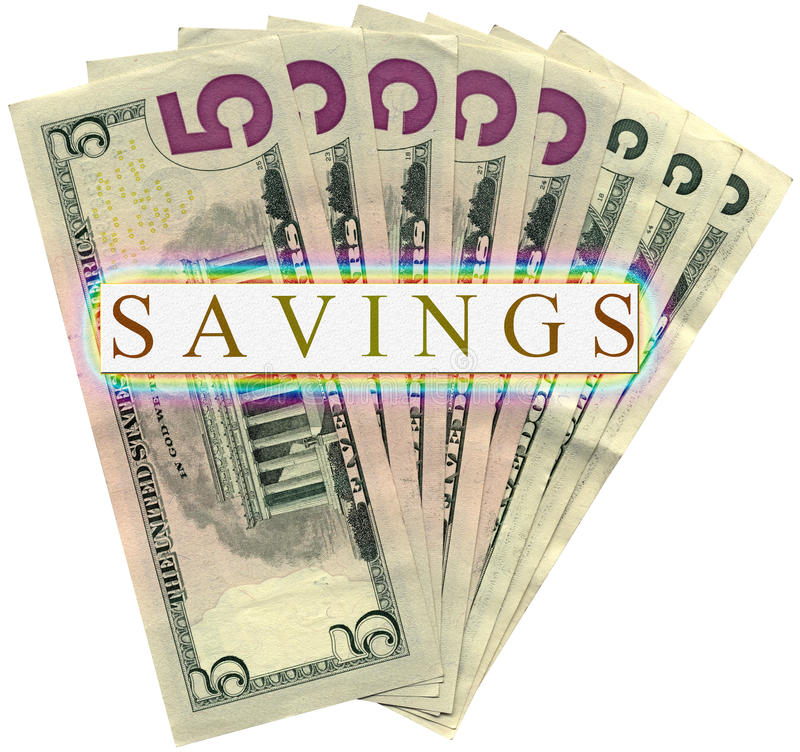 Download Savings In Five Dollars Isolated, Wealth Stock Photo - Image: 10438404