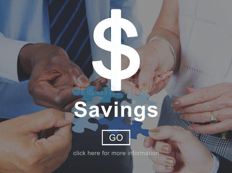 Savings pieniądze Pieniężnej księgowości bankowości pojęcie zdjęcia stock