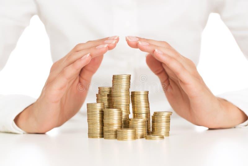 Savings protection stock photography