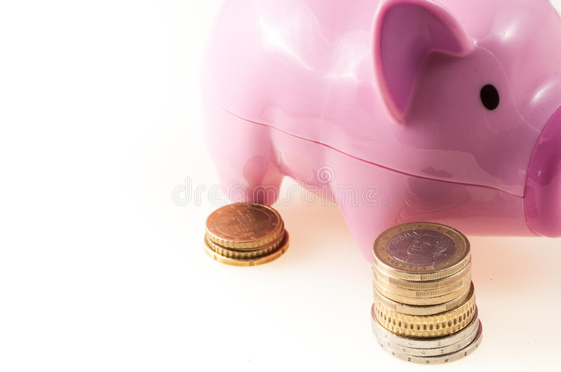 Savings represented by a pink pig stock photo