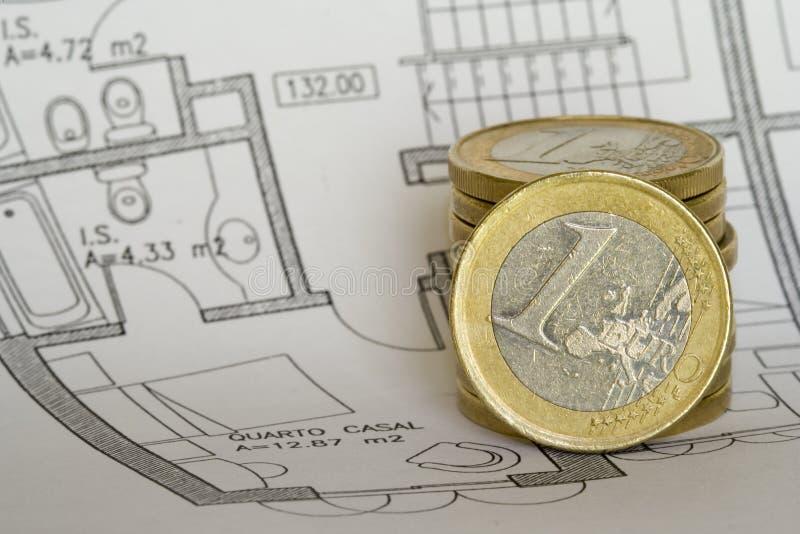 Savings to buy a house stock photography