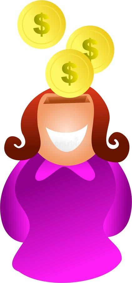 Download Savings woman stock illustration. Image of wealth, smiling - 1064502