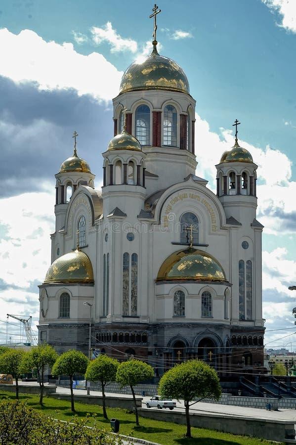 Savior στον καθεδρικό ναό αίματος σε Ekaterinburg, Ρωσία στοκ εικόνα