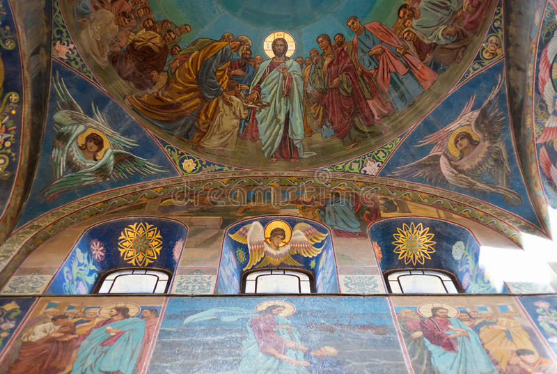 Savior στο αίμα σε Άγιο Πετρούπολη, Ρωσία στοκ εικόνα