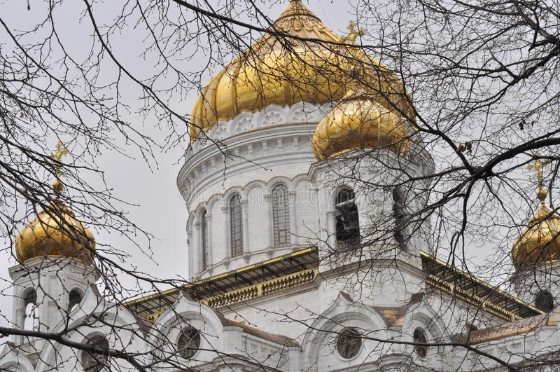 savior Χριστού Μόσχα Ρωσία καθεδρικών ναών στοκ φωτογραφία με δικαίωμα ελεύθερης χρήσης