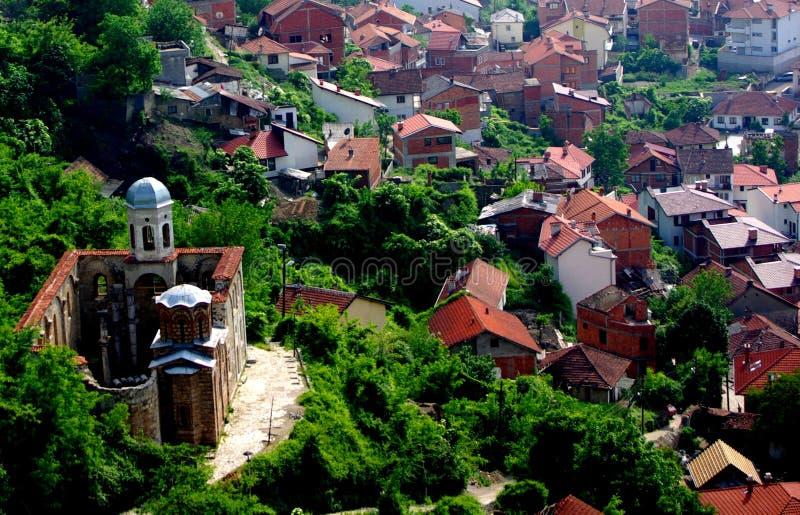 Savior Church, Prizren, ruins. The Savior Church in Prizren, destroyed during fighting in Kosovo royalty free stock photo