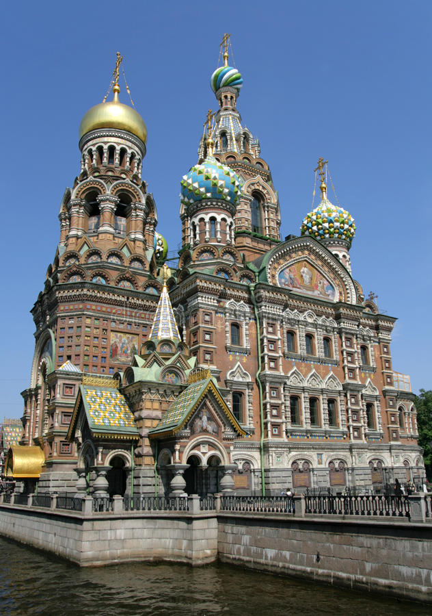 savior ST της Πετρούπολης εκκλ&e στοκ εικόνα