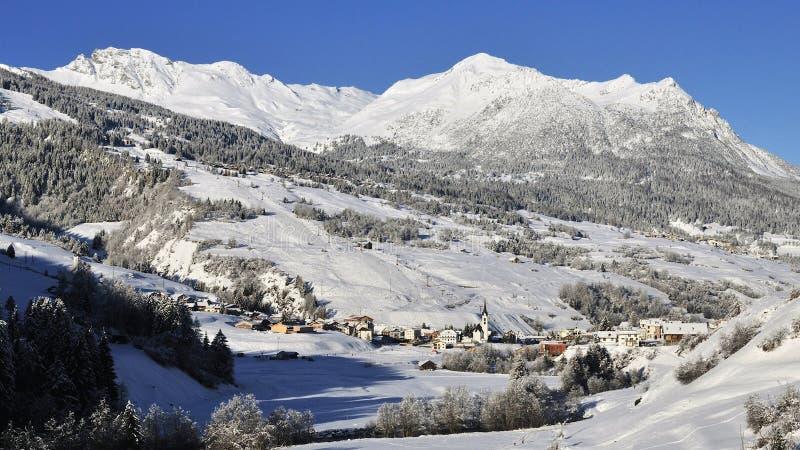 Savognin, Alpes d'Albula, Suisse image stock