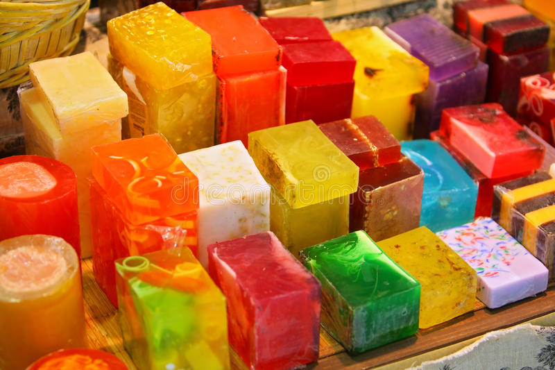 Savon coloré image stock