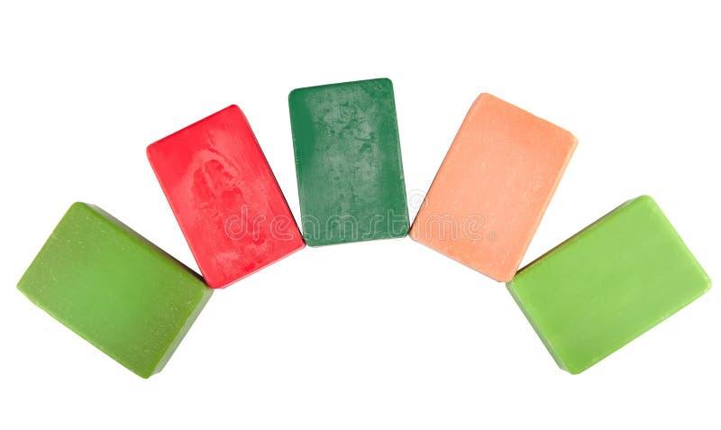 Savon coloré d'hygiène photo stock