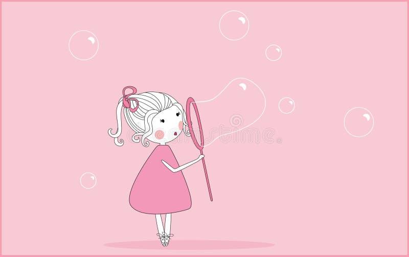 savon de soufflement de bulles illustration stock