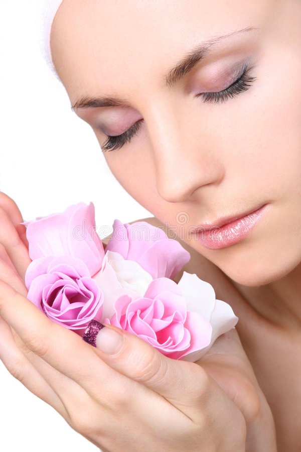 Savon-fleurs images stock