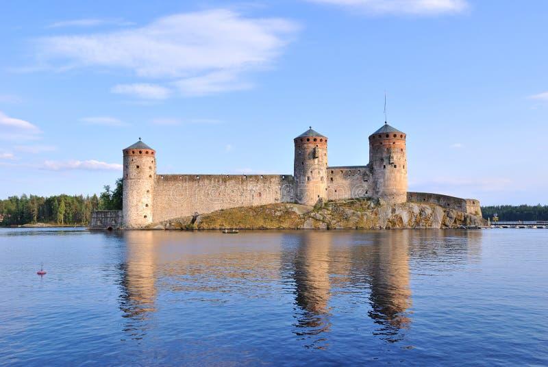 Savonlinna, Finlandia. Fortaleza antigua Olavinlinna foto de archivo libre de regalías