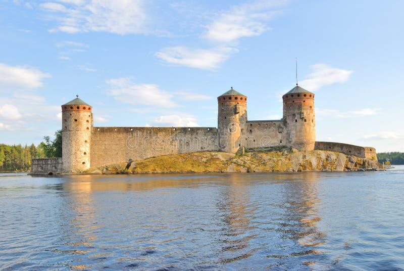 Savonlinna, Finlandia. Fortaleza Olavinlinna imagen de archivo