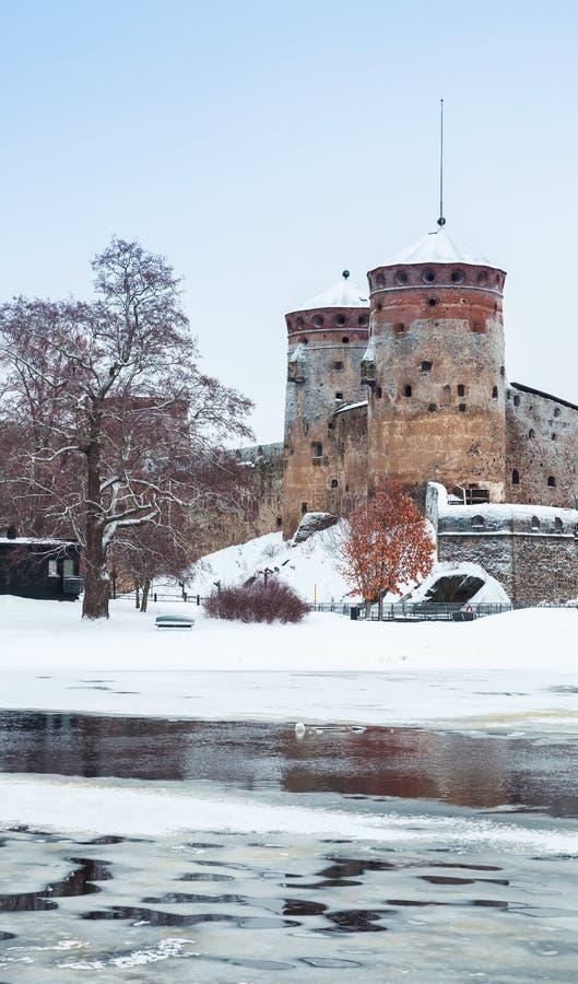 Savonlinna, Finlandia Fortaleza vieja imagenes de archivo