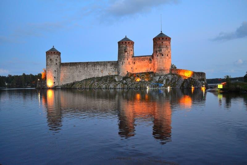Savonlinna, Fortaleza Olavinlinna fotografía de archivo libre de regalías