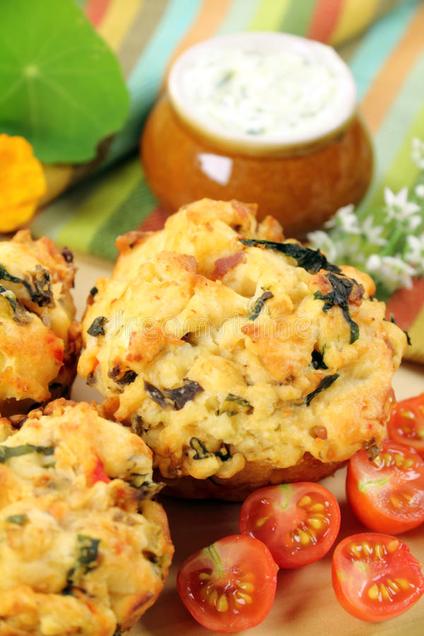Savory Muffins Stock Photos