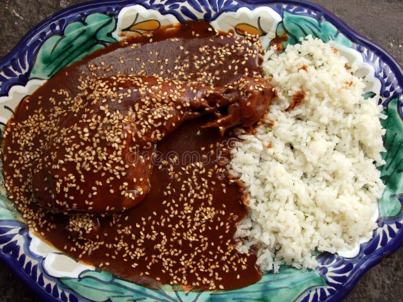 Savory Puebla Chicken Mole Stock Images