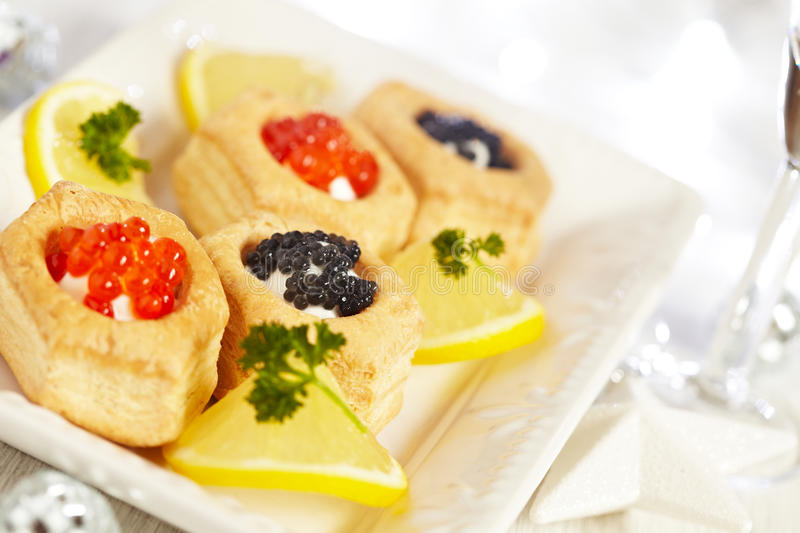 Savoury holiday appetizers stock image