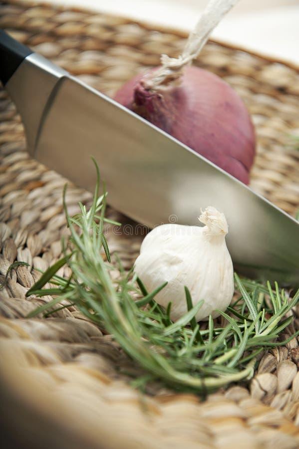 Savoury matlagningingredienser royaltyfri fotografi